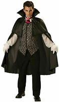 Midnight Vampire Incharacter Adult Halloween Costume Large Chest 42-44