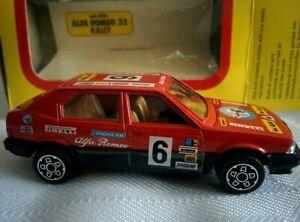 Vintage 1983 Die Cast 1:43 Bburago Burago Alfa Romeo 33 red #6 Racing in Box