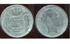 BELGIQUE 5 francs 1941  zinc   ( des belges  )
