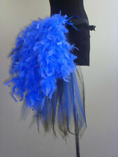 BurlesqueTutu Skirt Bustle Belt Feathers 6 8 10 12 Sexy Blue