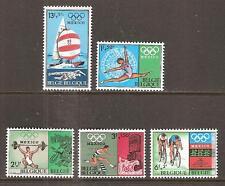 BELGIUM # B 824-8 MNH SUMMER OLYMPIC GAMES MEXICO 1968