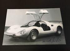 Autographe Photo Signed Designer Pininfarina Ferrari Dino Berlinetta Comp.