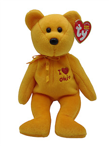Ty Beanie Baby I Love Ohio Bear Collectible Plush Retired Vintage Original New