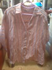 👀❤️❤️❤️Per Una🌺 @ M & S size 16 Silk Blend Brown Striped Blouse👚 🌺