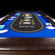 Texas Holdem Premium Solid Wood Poker Table Builtin Drink Holder Casino Style
