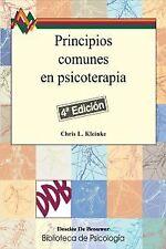 Principios comunes en psicoterapia. NUEVO. Nacional URGENTE/Internac. económico.