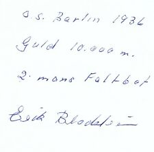 New listing Erik bladström 1918-98 Sweden Canoeing Olympic Champion 1936 Orig. Sign.