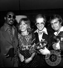 Photograph Stevie Wonder, Olivia, Elton John & Bernie Taupin 1975 James Fortune