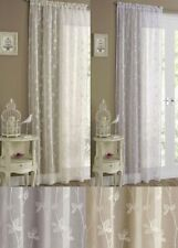 Voile Floral Traditional Curtains & Pelmets