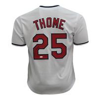 Jim Thome Autographed Baseball White Jersey (JSA)