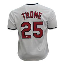 Jim Thome Autographed Baseball Jersey (JSA COA)