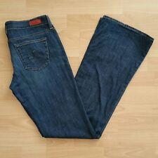 AG Adriano Goldschmied Women's The Club Boot Cut Jeans Size 29R Blue Dark Wash
