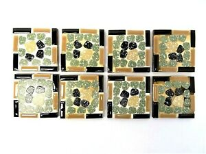 "Small Modern Brown Black Green 2.75"" x 2.75"" Square Decorative Tiles"