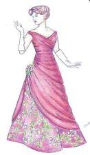 Pattern fits Silktone Barbie  fashion dolls Long Evening Gown