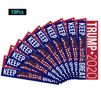10PCS/Set Red Blue Donald Trump President 2020 Bumper Sticker Keep America Great