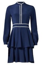 NWT Tory Burch Winston Navy Contrast Trim Sheath Casual Dress size 6