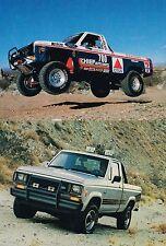 Lrg. 1987 FORD RANGER PickUp Truck Brochure w/Color Chart: XLT,STX,S,CUSTOM,4WD,