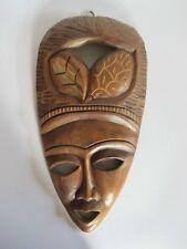 Schöne ältere Holzmaske aus Afrika Troppenholz hand-geschnitzt 33 cm hoch