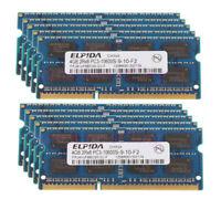 40GB 10pcs Elpida 4GB 2Rx8 PC3-10600 Memory SO-DIMM Laptop DDR3 1333Mhz CL9 RAM