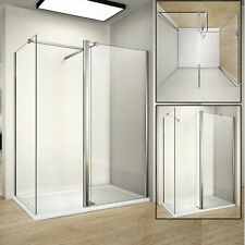 Quality 1500x900mm Shower Enclosure Walk in Wet Room Stone Tray Waste 1950h