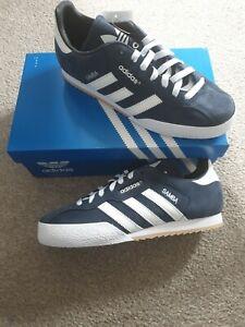 Adidas Originals Samba Super Shoes Mens Lace Up Trainers Navy uk 10 NEW