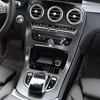 Mercedes Benz C GLC W205 X253 Oak Wood style centre console trim cover W CLOCK