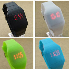Blink Time Watch Colourful Touch Operated LED Digital Silicone Watches Trendy FT