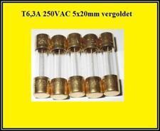 FST Glas Sicherung T 6,3A 250V Träge 5x20mm Feinsicherung Fuse 5 Stück