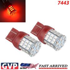 7443 LED Strobe Flashing Blinking Brake Tail Light Parking Safety Warning Bulbs