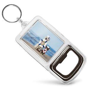 Acrylic Bottle Opener Keyring  - Nautical Dogs at the Beach Dog  #24491