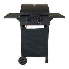 Charles Bentley Deluxe Gas Barbecue in Black Made of Steel with Auto Ignition