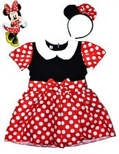 NEW SZ 1-6 KIDS COSTUMES DISNEY MINNIE MOUSE GIRLS DRESS UP PARTY CHILDREN GIFT