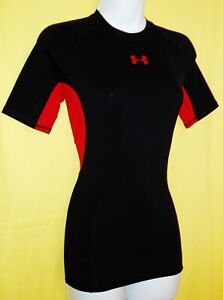 UNDER ARMOUR HEAT GEAR COMPRESSION WOMEN'S SHORT SLEEVE TOP SIZE STRETCHY SMALL