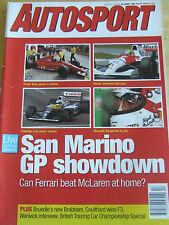 AUTOSPORT MAGAZINE APR 1991 SAN MARINO GP SHOWDOWN BRUNDLE'S NEW BRABHAM COULTHA