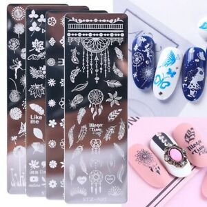 Nail Art Stamping Plate Clear Jelly Head Stamper Scraper Stamping Transfer UK
