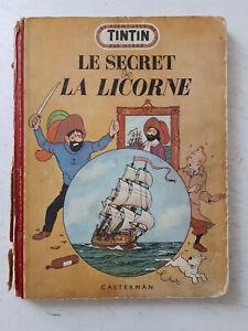 les aventures de Tintin : le secret de la licorne 1947, état correct