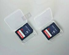 2 Genuine Sandisk 8GB SD SDHC Secure Digital Flash Camera Memory Cards Plus