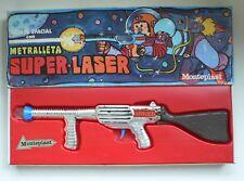 Monteplast Agente Spacial Con Metralleta SUPER LASER Space Ray Gun Pistol MIB