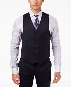 Lauren Ralph Lauren Mens Ultra Flex Suit Vest Size 48 Regular NWT Navy Blue Wool