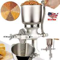 Commercial Home Wheat Grinder Corn Grain Mill Nut Manual Hand Iron Crank Cast US