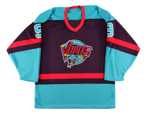 Any Name Number Size Detroit Vipers Retro Hockey Jersey Howe Navy Blue