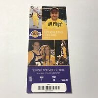 Los Angeles Lakers New Orleans Pelicans NBA Basketball Game Ticket Stub Dec 2014