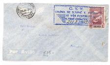 PORTUGUESE COLS Cover São Tomé and Príncipe Air Mail First Flight 1949 AR207
