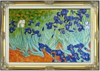 Framed Quality Hand Painted Oil Painting, Repro Van Gogh Irises, 24x36in