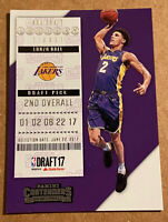 Lonzo Ball RC 2017-18 Panini Contenders Rookie Los Angeles Lakers #2