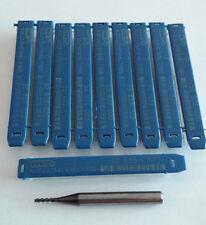 Molino de Extremo del Carburo 10 un.. 2x7x58mm. 52 833 020 WNT Original Nuevo -3 Flauta