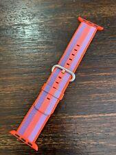 GENUINE Apple Watch 38mm Woven Nylon Band Orange/Blue PREOWNED!