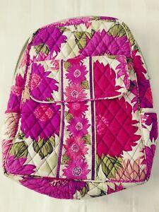 Vera Bradley Small Backpack - Dahlia Design - Purple, Pink, Green