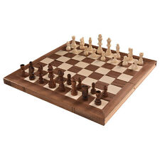 "15"" Standard Game Wooden Chess Set Pieces Magnet Portable Hand Carved Board Box"