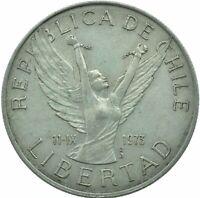COIN / CHILE / 5 PESOS 1977 COLLECTIBLE   #WT17468